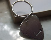 Handstamped Guitar Pick Key Ring Father's Day Graduation - BraceletsbyLinda