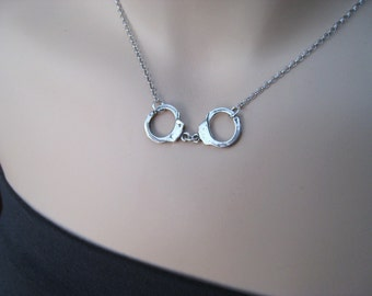 Handcuff Necklace-  Sterling Silver - Larger Version, Fall Fashion