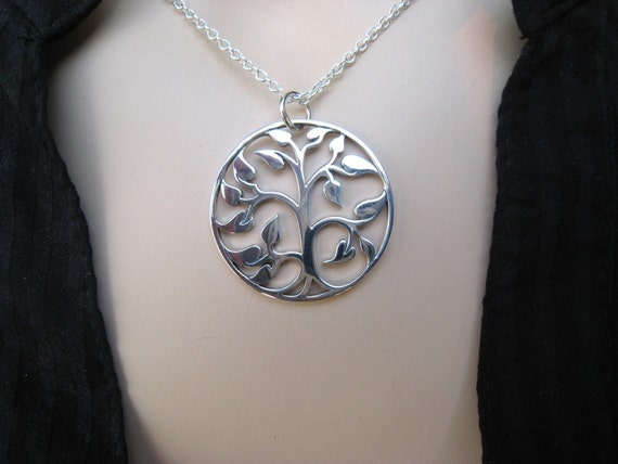 Tree of Life Necklace,  Sterling Silver, Family Tree, Gift for Mom, Mother's Necklace, Irisjewelrydesign, Fall Fashion