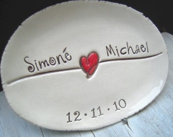 Ceramic ring dish wedding ring pillow Wedding gift engagement gift jewelry dish ring holder ceremony Ring Bearer