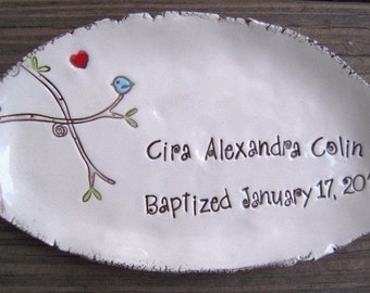 Baptism, Christening, First Communion Keepsake Dish