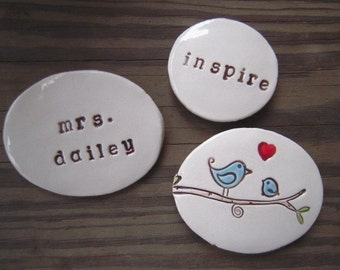 Teacher Gift - Personalized Magnet Trio - Custom Made