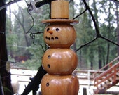Precious Wood Snowman For your Collections