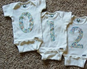 CUSTOM order for Casie - Wonder Numbers - 0-12 Numbered Onesies (13 Onesies Total) - CAMO