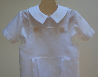 Boy Christening Outfit  Overalls and Shirt  Custom sizes