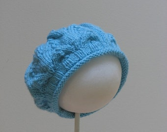 Aqua blue Slouch Beret  Hat  Toddler 2-3 years