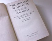The Outline of History by H.G. Wells - Vintage Book c. 1949