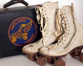 Vintage Roller Skates and Portland Oaks Rink Case