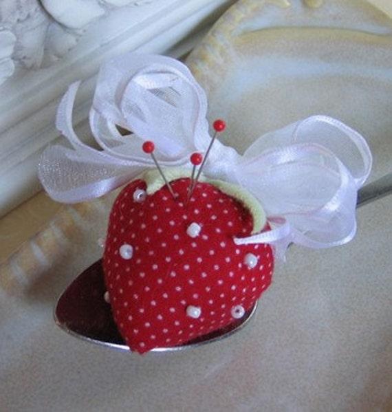 Strawberry Sweet Spoonful Pincushion