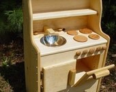 Ivy's wooden play kitchen, Child's toy kitchen, NO Mdf or Plywood , Waldorf kid, kids ,play set children's  toys 100% real wood
