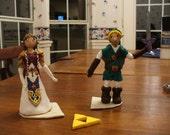 princess zelda and link wedding cake topper