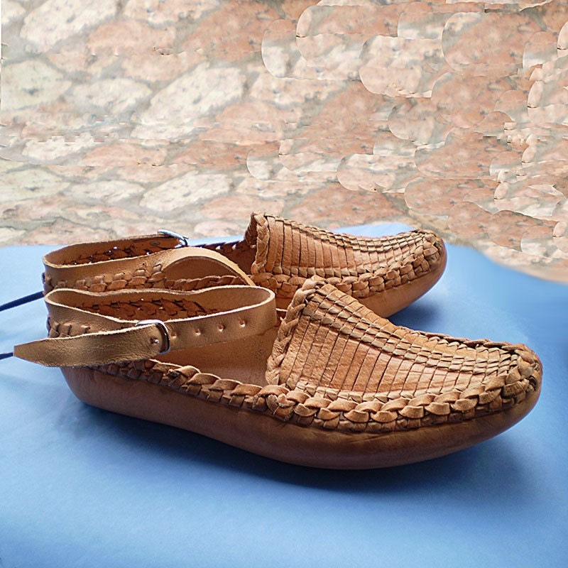 Traditional Leather Opanak Shoes By Thecrocodilerock On Etsy