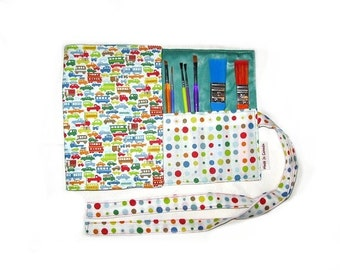 sofs offers a boy crayon roll. this one in full traffic. Can also be a car roll...