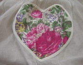 Hearts and Flowers 1950's Vintage Tie Apron