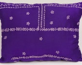Purple and Silver Indian Pillow