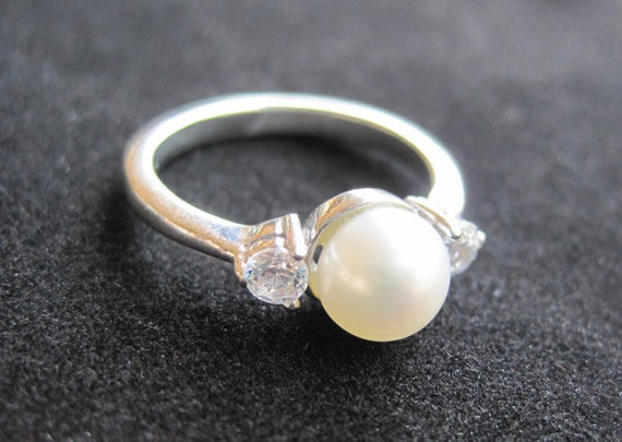 925 Sterling Silver Freshwater Pearl Ring