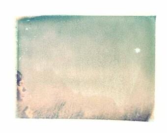 Polaroid Bubbles Sky Pink Green Vintage Art 8x10 Print