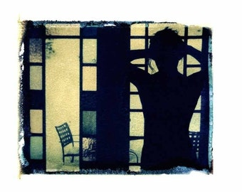 Photography Polaroid Silhouette Stained Glass Erotic Vintage Art 11x14 Print