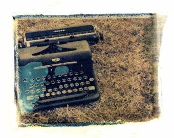 Vintage Typewriter Photography Print Polaroid Art Retro Home Decor 8x10 Print
