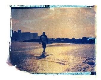 Photography Polaroid Beach Surf Ocean Vintage Art  8x10 Print