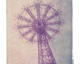 Polaroid Photography Parachute Coney Island New York City Vintage Art 11x14 Print