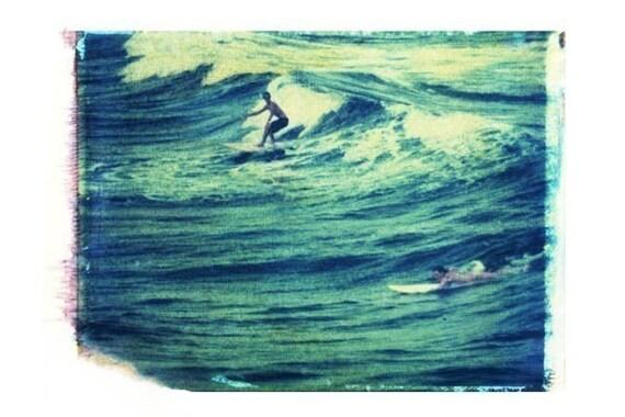 Surf Art Surfing Blue Vintage Art Surfboard Florida 8x10 Print