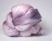 SALE!  Merino Silk Spinning Fiber Combed Top Brick 4.5 ounces Amethyst, Purple, Lavender
