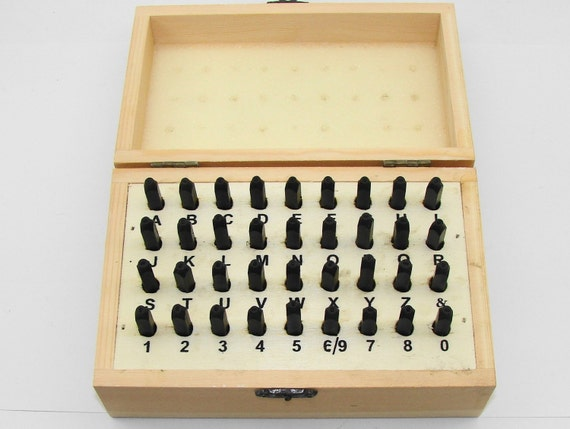 "36Pc. 1/16"" (1.5mm) Letter & Number Stamping Set With Case"
