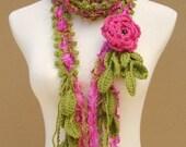 Queen Ann Rose Lariat-Pink
