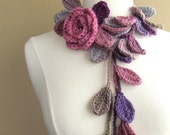 Queen Elizabeth Rose Lariat-Scarflette-Dusty Rose