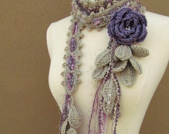 Queen Ann Rose Lariat-Lavender nr 2