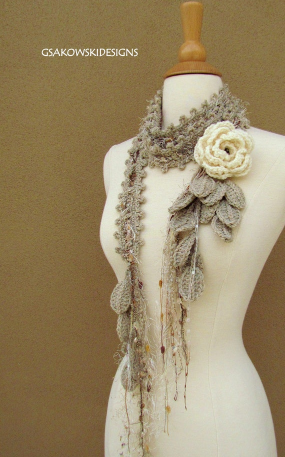 Queen Ann Rose Lariat- Cream-Reserved listing for Tracy