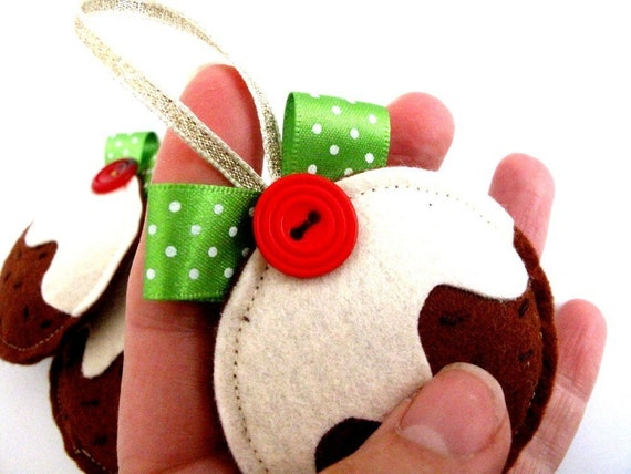 Christmas Decoration Pretty Figgy Pudding x1 decoration