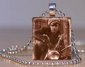 Elvis Scrabble Tile Pendant Necklace - FREE BALL CHAIN