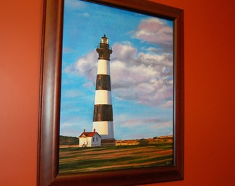 Bodie Island Lighthouse Original Oil Painting