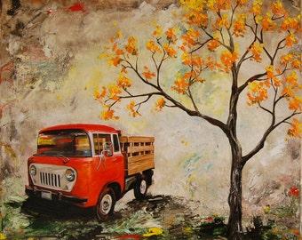 Vintage 1958 Jeep FC-150 print, 11x14