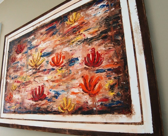 Floating Flowers Original Oil Painting CLEARANCE