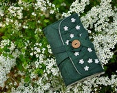 Straight Knitting Needle Case Needle Holder Craft Bag Knitting Needle Case in Forest Green