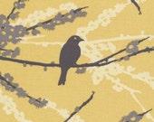 1 yard Joel Dewberry - Aviary 2 - Sparrows in Vintage Yellow JD41