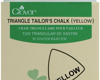 Essential Tool - Clover Triangle Tailor's Chalk - Yellow