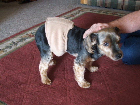 SOFT Small Male Dog Diaper Belly Band STAYS ON