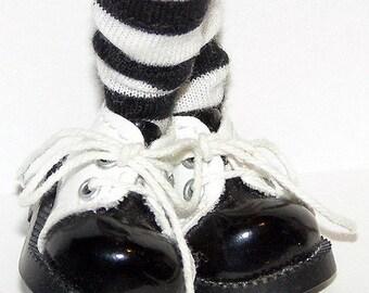 Short Black And White Striped Socks For Blythe...One Pair Per Listing...