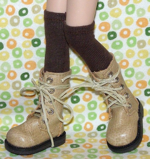 Tall Brown Socks For Blythe...One Pair Per Listing...