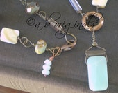 Amazonite, Pearl, MOP, Agate and Czech Bead Necklace