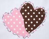 INSTANT DOWNLOAD Valentine Polka Dots Hearts applique designs