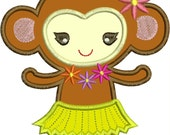 INSTANT DOWNLOAD Daisy Monkey Applique designs 3 sizes