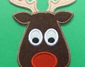 INSTANT DOWNLOAD Rudolph Reindeer Applique designs