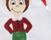 INSTANT DOWNLOAD Christmas Boy Elf Machine Embroidery Applique Design