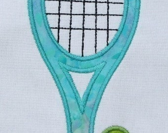 INSTANT DOWNLOAD Tennis Racquet Applique design