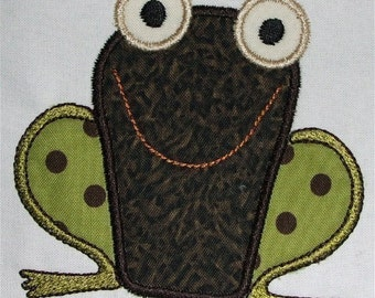 INSTANT DOWNLOAD Frog Applique Designs